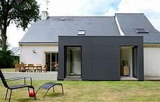 agrandir sa maison avec un cube extension de maison cubique et moderne 224 nazaire 44