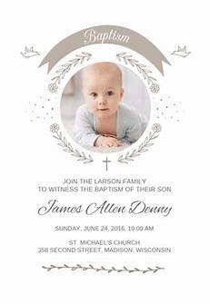 invitation card christening layout quot ribbon cameo quot printable invitation template customize