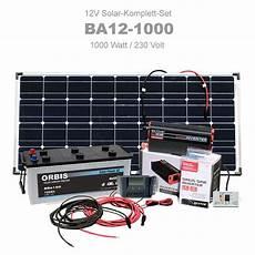 Insel Solaranlage 1000w Komplettset 12v 230v Ba12 1000