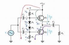 circuit analysis class ab power dc bias at the