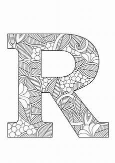 Ausmalbilder Buchstaben R Letter R Floral Doodle Alphabet Coloring Pages