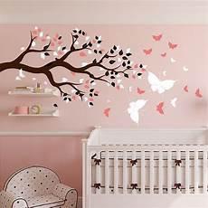 stickers chambre b 233 b 233 arbre et papillons pour du bonheur