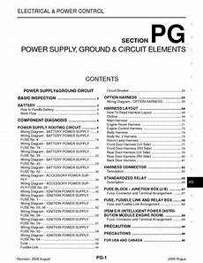 motor repair manual 2009 nissan rogue parking system 2009 nissan rogue power supply ground circuit elements section pg pdf manual 94 pages