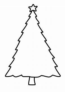 Malvorlage Weihnachtsbaum Einfach Vorlage Tannenbaum