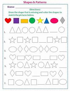 shapes patterns worksheets kindergarten 146 students will learn how to recognize patterns match colors and develop their motor skills
