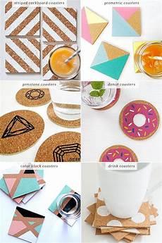 Basteln Mit Korkplatten - diy easy cork coasters you could also use ideas to