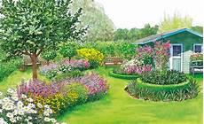terrassenumrandung mit pflanzen zwei ideen f 252 r eine gro 223 e rasenfl 228 che
