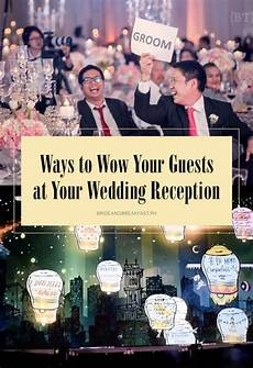 wow your wedding guests poster bride and breakfast