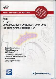 how to download repair manuals 1995 audi cabriolet electronic valve timing audi a4 s4 shop service repair manual dvd cd cabriolet quattro avant rs4 02 08 ebay