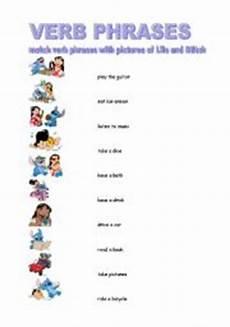 english worksheets verb phrases