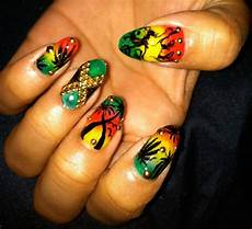 the burton blog rasta nails jamaica nails sassy nails