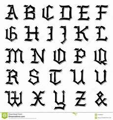 alfabeto gotico lettere illustrazione di vettore di un alfabeto gotico completo