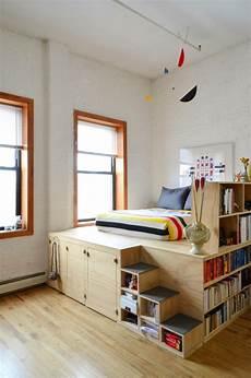 Halbhohes Bett Mit Treppe - 1001 ideen f 252 r kleine r 228 ume einrichten zum entlehnen