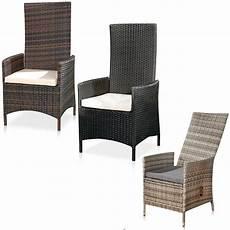 Gartensessel Polyrattan Verstellbar - relaxsessel polyrattan gartenstuhl verstellbar ruhesessel