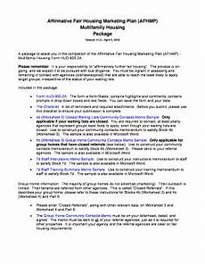affirmative fair housing marketing plan fillable online nhhfa afhmp package version 11 0 a