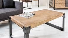 Table De Salon Design Industrielle En Bois Et M 233 Tal Jorg