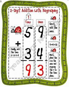 2 digit addition w regrouping anchor chart 1 25 2 digit