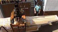 Osb Dachlatten Und Fliesen Abladen Mit Palfinger 14 Meter
