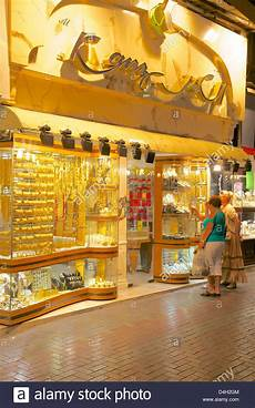 gold shop in the gold souk dubai united arab emirates