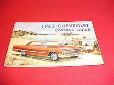 online car repair manuals free 1995 chevrolet impala user handbook 1963 63 chevrolet bel air biscayne impala owners manual for sale online ebay