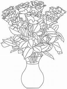 Ausmalbilder Blumenvase Flowers In A Vase Coloring Pages And Print