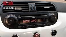 fiat 500 code radio