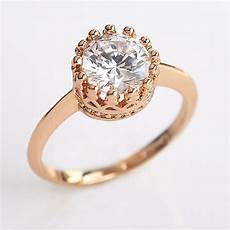 ustar crown rings for zircon jewelry rose gold color crystals wedding rings anel