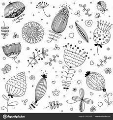 coloring pages 17621 bloemen kleurplaten fotoboekpagina naadloze bloemmotief vector planten kruiden symbolen