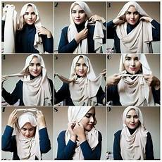 25 Inspirasi Tutorial Pashmina Simple Terbaru 2018