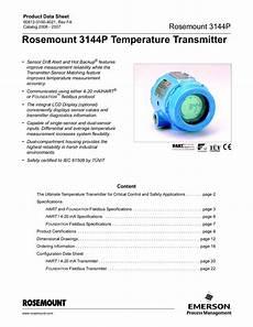 rosemount 3144p temperature transmitter 2006 2007 by luppo luppo issuu