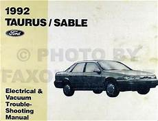 best auto repair manual 1992 mercury sable electronic throttle control 1992 ford taurus mercury sable electrical vacuum and troubleshooting manual 92 ebay