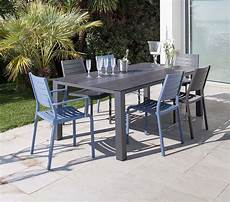 fauteuils en aluminium flower lot de 2 cobalt