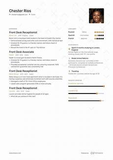front desk resume exle and guide for 2019
