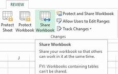 share an excel file workbook