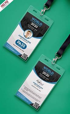 vip name card template conference vip entry pass id card template psd psd print