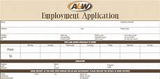 a w application printable employment forms