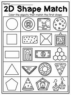 identifying shapes worksheets 1149 2d shape match worksheet for kindergarten this packet is jammed of worksheets to help your