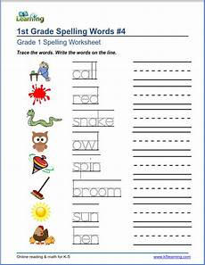 grade spelling worksheets k5 learning