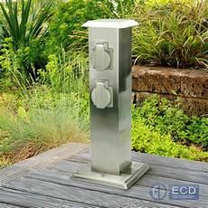 Borne Jardin Electrique Bloc 4 Prises Source De Courant