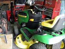how to replace a transmission belt deere l 130 lawn tractor mower funnycat