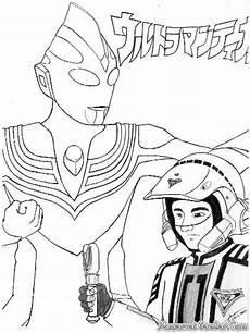 Gambar Mewarnai Kartun Ultraman X Halaman Mewarnai