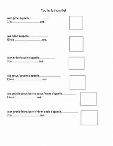 worksheets la famille 18941 ma famille by heouaine teaching resources tes