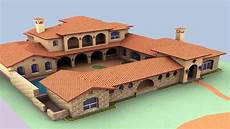 spanish style house plans interior courtyard see