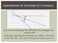 medians altitudes of a triangle