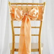 wedding chair sashes peach 5 pcs peach satin chair sashes tie bows catering wedding party decorations 6x106 quot efavormart