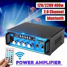 220v 400w Bluetooth Power Lifier Audio by 12v 220v 400w Bluetooth Power Lifier Audio Stereo Home