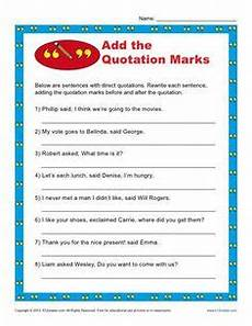 grammar worksheets quotation marks 24933 adding quotation marks to dialogue worksheet englishlinx board quotation