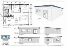 skillion roof house plans titan homes 7 skillion roof 80m2 www titangaragesandsheds