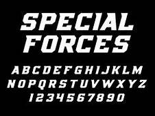 Sport Font Vector Alphabet With Latin Letters And Numbers