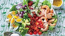 Salad Hairstyle shrimp cobb salad with bacon dressing recipe southern living